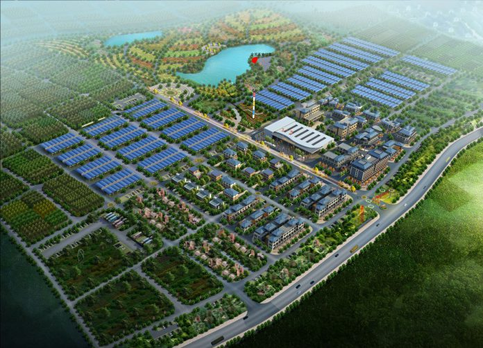 Huadong International Landscape Architecture Industrial Park, with competition site marked in red