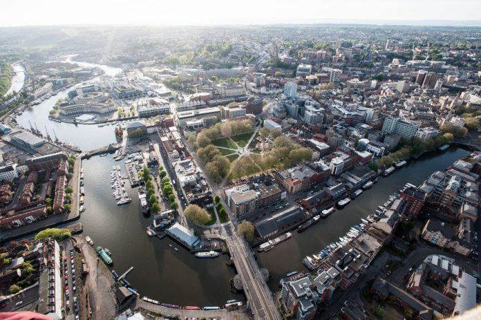 Aerial view of Bristol. Copyright: www.JonCraig.co.uk