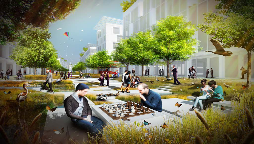Third place winner: Water boulevards | Baharash Bagherian, Baharash Architecture