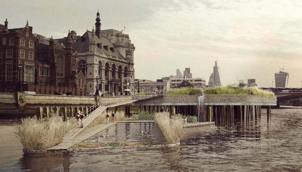 Second place: Thames baths project | Studio Octopi, JCLA, Civic Engineers