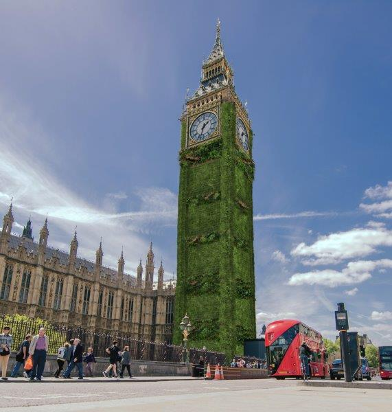 Big Ben reimagined with a green building envelope © Arup/Chris Baker