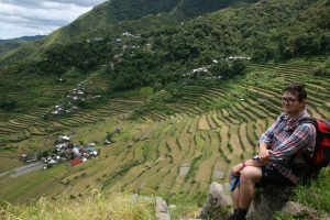 Charles Lamb at the terraces of Batad. © Charles Lamb