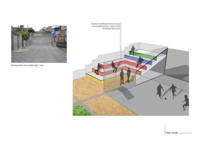 Terrace proposal Pellant Road Estate