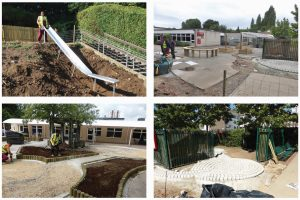 Ivybridge Primary School, during construction. © Atkins / Chris Raven