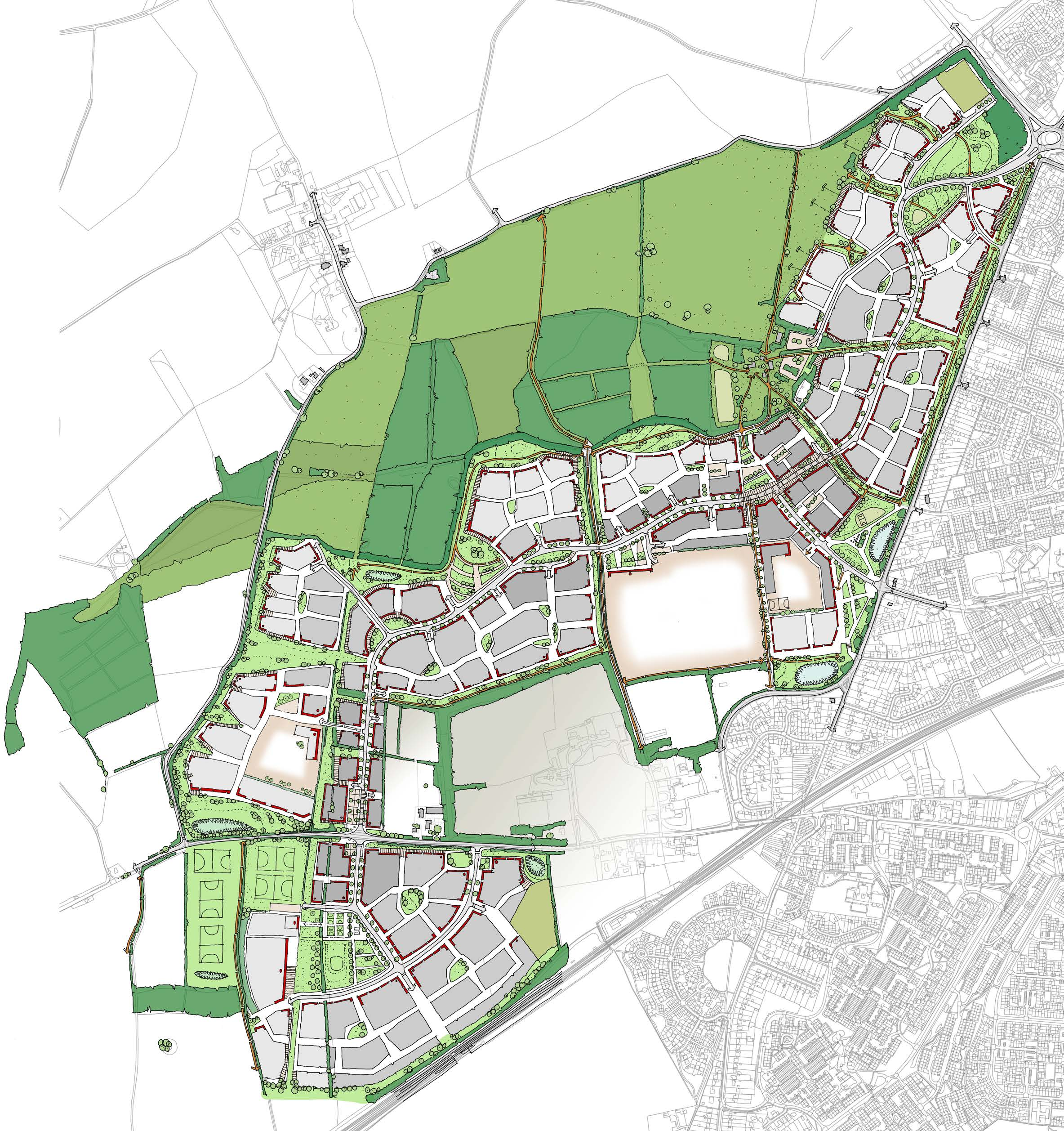 Application Site Map: Planning Application For New Basingstoke Garden Town