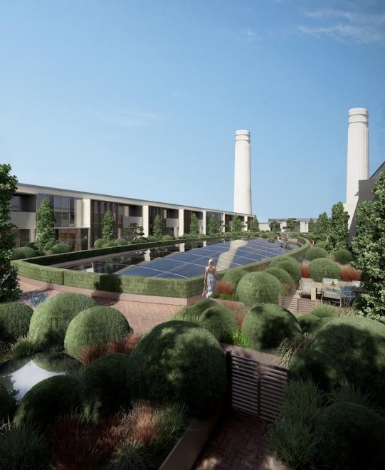 Battersea roof garden designs