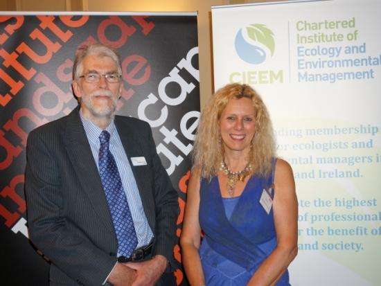 John Box, president of CIEEM, and Sue Illman, president of the Landscape Institute