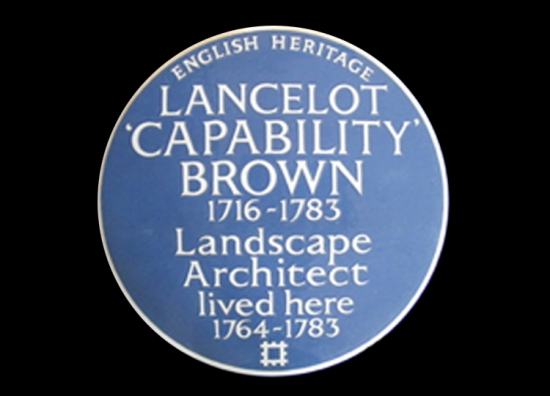 Sign of success: Capability Brown's new plaque