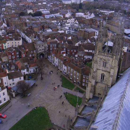 View from Canterbury Cathedral