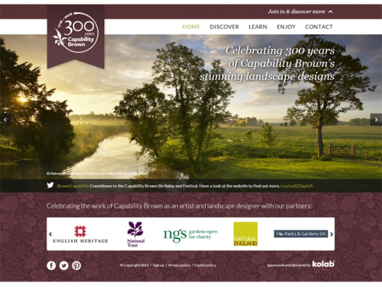 he new Capability Brown website has been launched in advance of the tercentenary