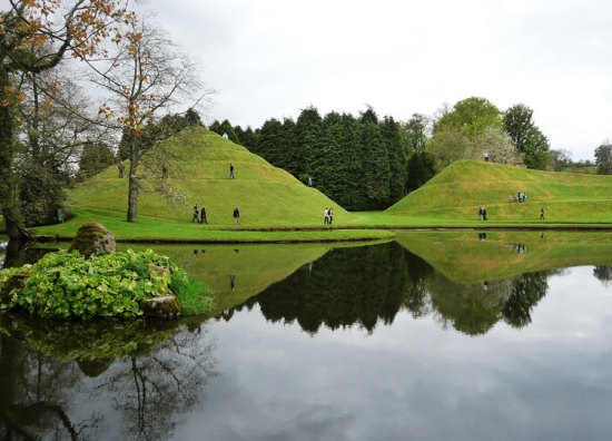 Curvaceous but inflexible. Charles Jencks's stiffly representational landforms at the Garden of Cosmic Speculation at Portrack House, near Dumfries