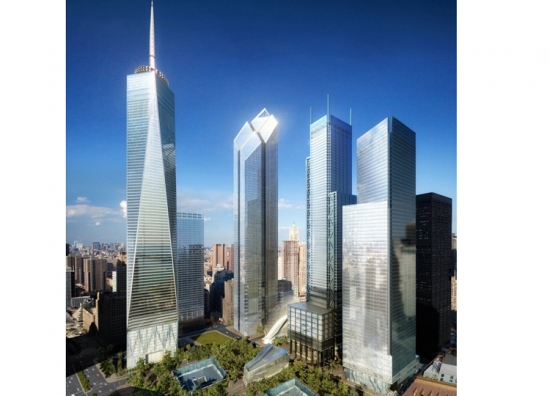 Ground Zero Master Plan for the World Trade Center site in Manhattan (click on image to see in full)