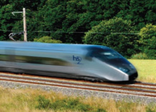 Artist impression of High Speed Rail train