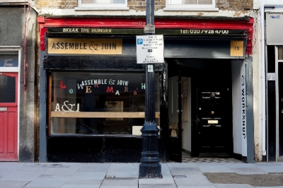 Assemble & Join is occupying an empty shop in Lower Marsh