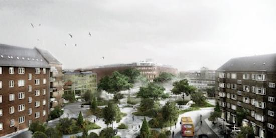 Tredje Natur's designs for a climate-adapted Saint Kield neighbourhood