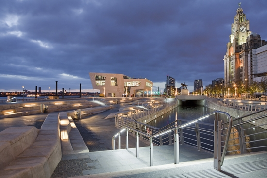 AECOM's Pier Head Public Realm and Canal Link, winner of 'Design One to Five Hectares' at the LI Awards 2010