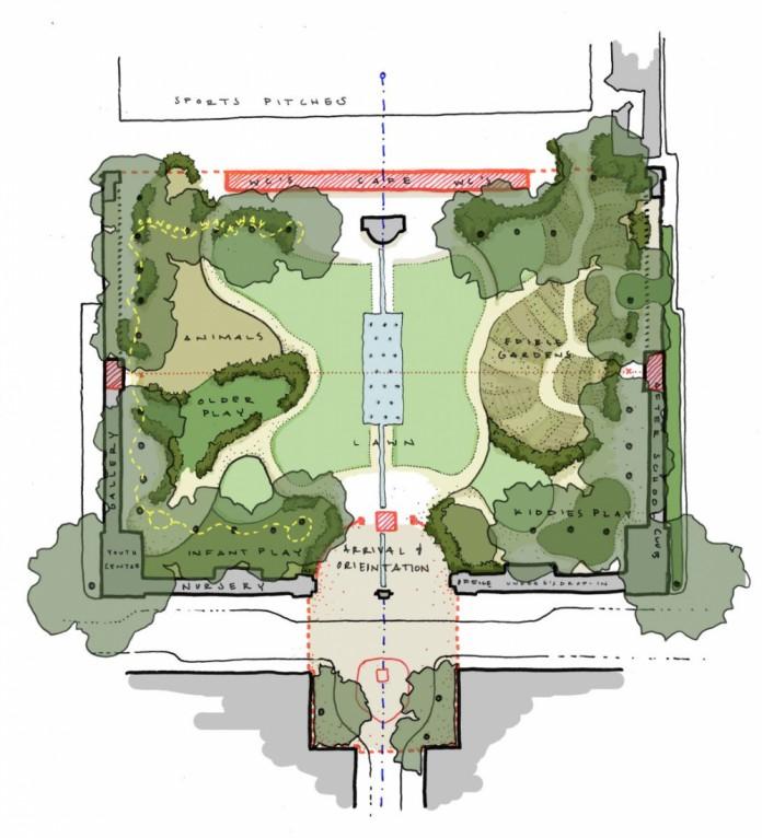 Plan of Coram Fields
