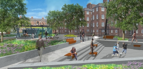 Farrer Huxley Associates and James Smith have been chosen from a shortlist of four entries to improve the public space surrounding Barrow Island's Maritime Streets.
