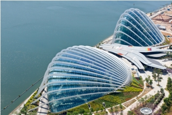 Cooled conservatories at the Gardens by the Bay