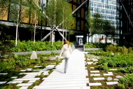 The landscape at Neo Bankside. All photos copyright Gillespies