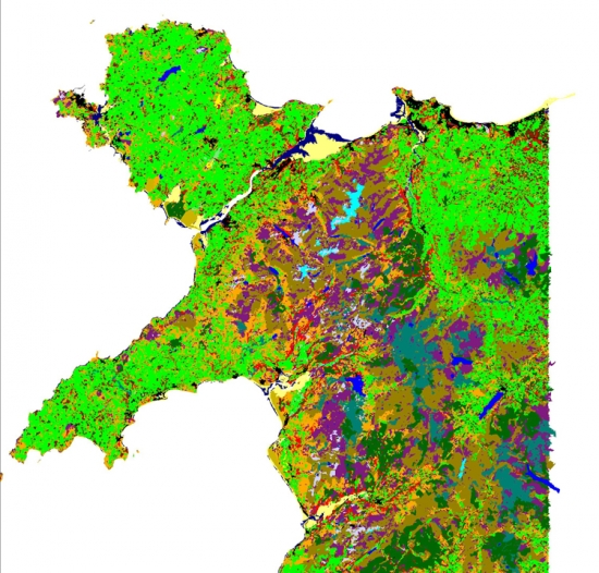 Image from the map, courtesy of NERC/Centre for Ecology & Hydrology