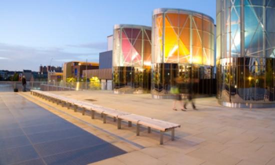 The new civic square at Islington basin