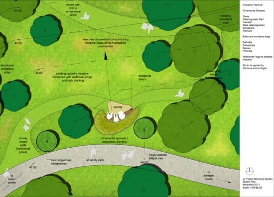 Designs for Jo Yeates memorial garden