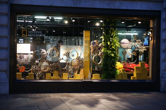 craft:pegg's installation for the National Geographic Store on Regent Street, London