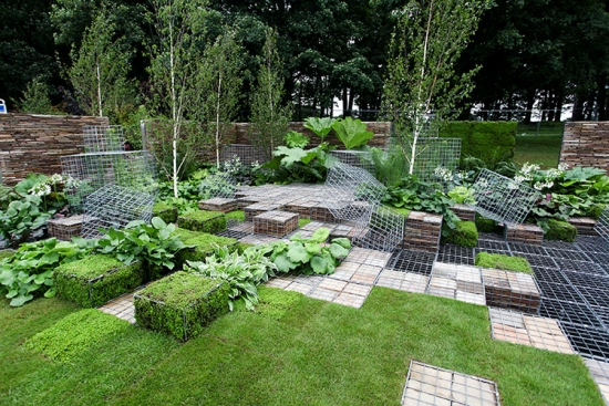 The Cubed3 garden at Tatton Park