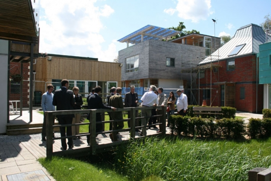 Peter Wilder leads a guided tour of the Innovation Park.