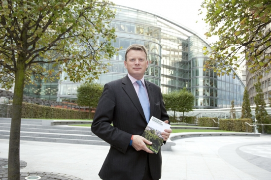 Richard Benyon MP with his copy of the Local Green Infrastructure book
