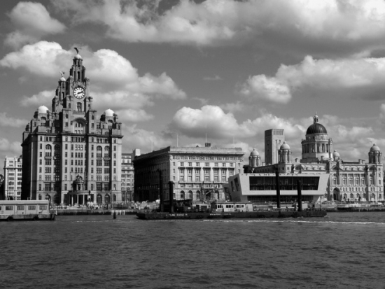 A view of Liverpool from the river