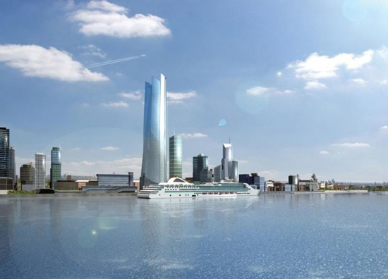 Artist's impression of the Liverpool Waters regeneration scheme