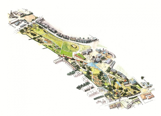 A aerial plan of LUC's Heartlands