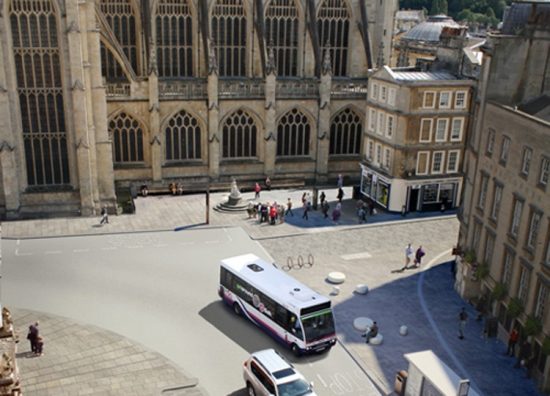 Visualisation of High Street, Bath