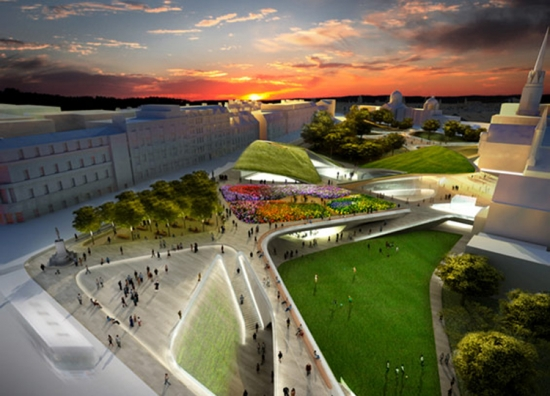 Proposed design for Aberdeen City Garden. Image credit: Copyright Diller Scofidio