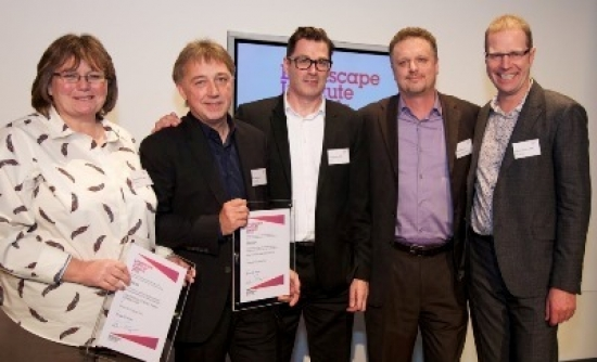The winning team from LDA Design, Atkins, Arup and Hargreaves Associates received a standing ovation