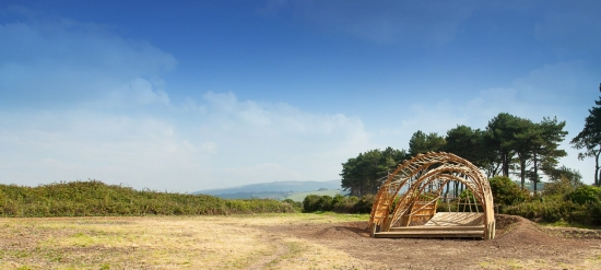 Pleasure gardens pavilion constructed in just three days