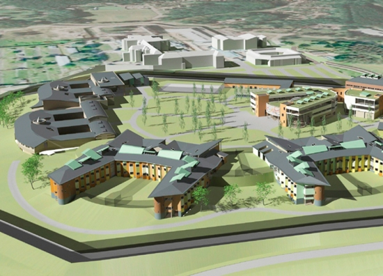 Designs for the redevelopment of Broadmoor hospital