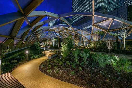Public garden tops first Crossrail retail project