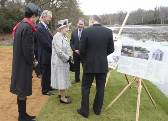 Her Majesty the Queen opens the restored landscape setting at Cow Pond