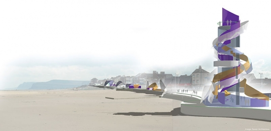 Seven Architecture's design for the 'vertical pier'.