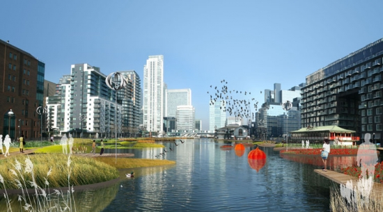 Millwall Dock Floating Gardens, a proposed new natural ecosystem by Form Associates.