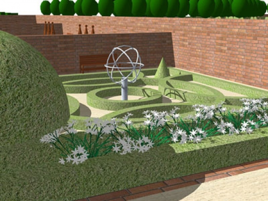 Artist's impression of the Tudor Knot garden
