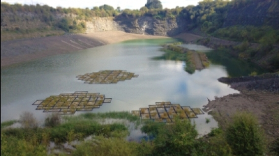 The restored quarry in Rugby