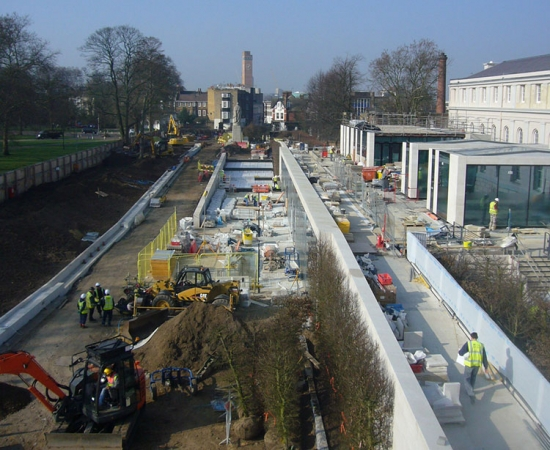 Sammy Ofer Wing entrance at the National Maritime Museum Greenwich under construction