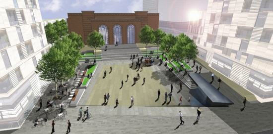 The new square will form the centrepiece of the regeneration of the west end of King Street in Hammersmith.