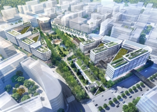 Hongqiao Vantone SunnyWorld Centre. Images: Foster + Partners