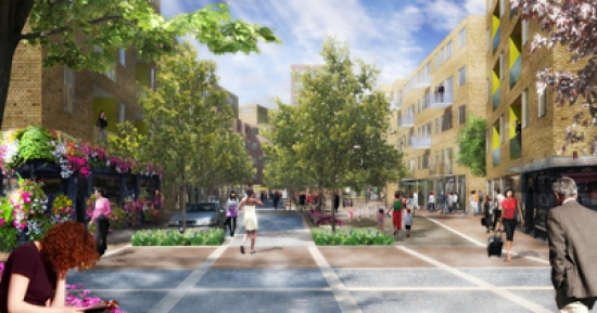 CGI rendering of what Greenwich Millennium Village will look like