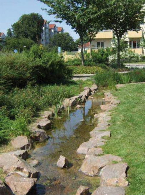 An example of a sustainable urban drainage system